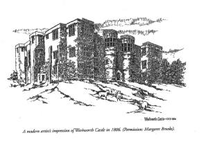 Warkworth Castle by Margaret Brooks